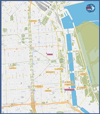 Map of Venue Area Hotels - Buenos Aires
